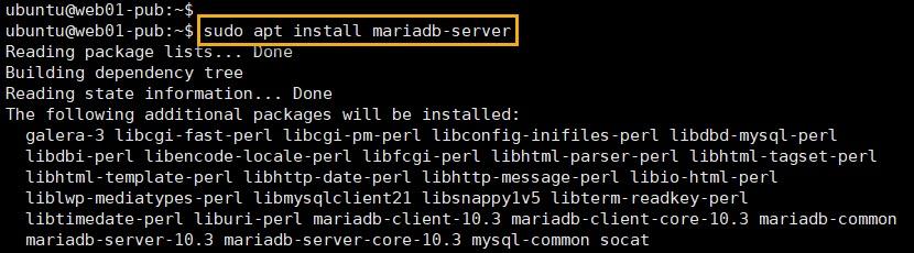 mariadb server 설치