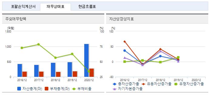 랩지노믹스 재무정보
