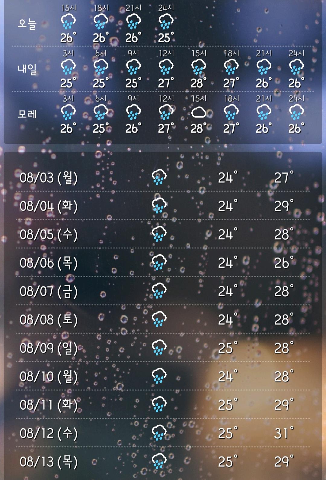 앞으로 10일간 계속 비온다2