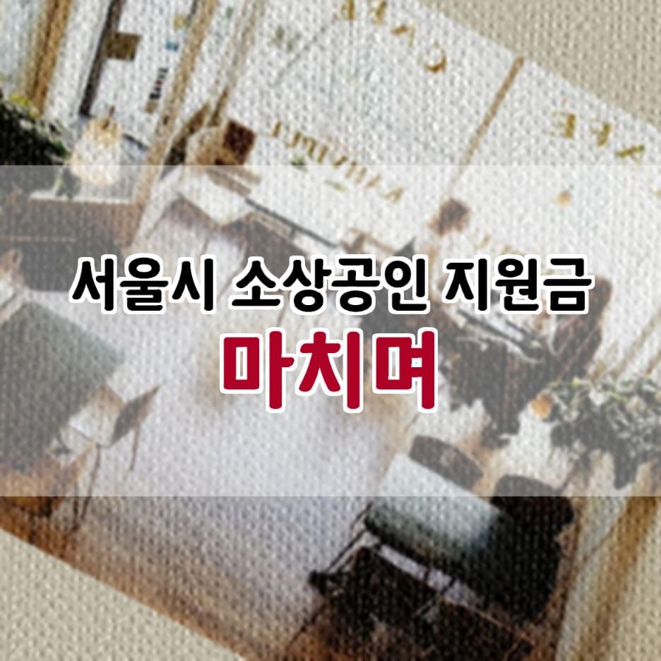서울시 코로나 소상공인 지원금 생존자금