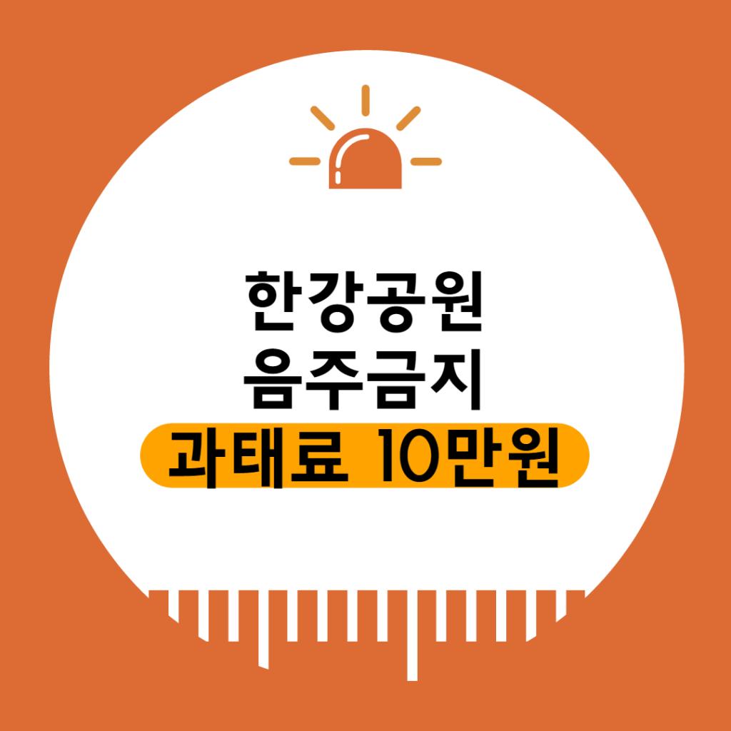 한강 음주금지 poster