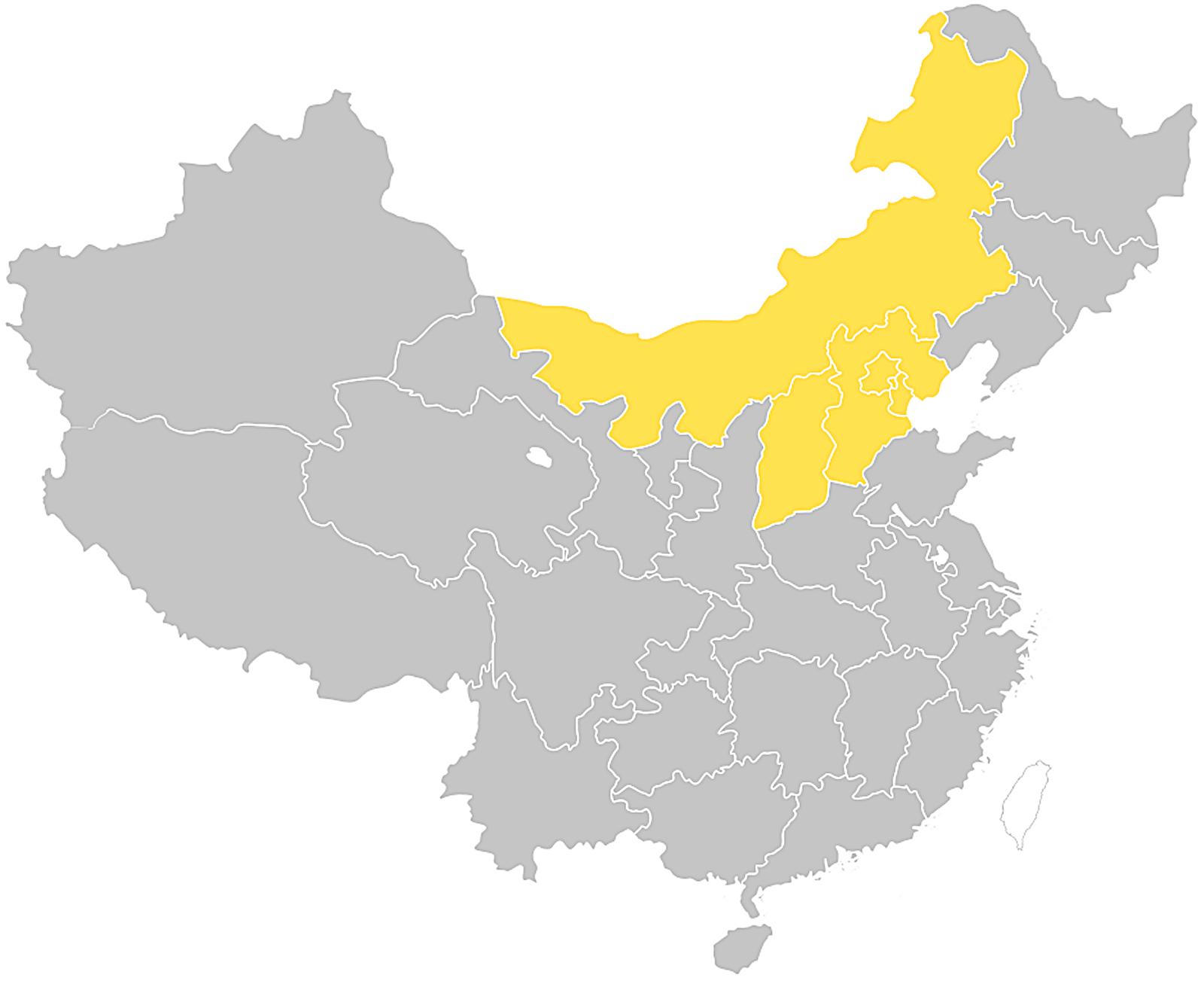 중국 화북 지역