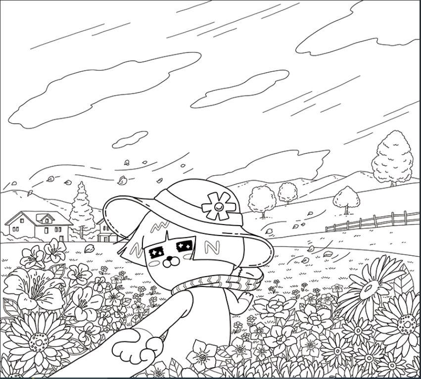 꽃-밭의-네오-도안-다운로드(이미지-출처: http://papastore.co.kr/)