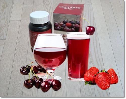 멜라토닌보충제,딸기,체리