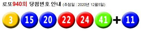 로또940회당첨번호 : 21, 27, 29, 38, 40, 44 + 37