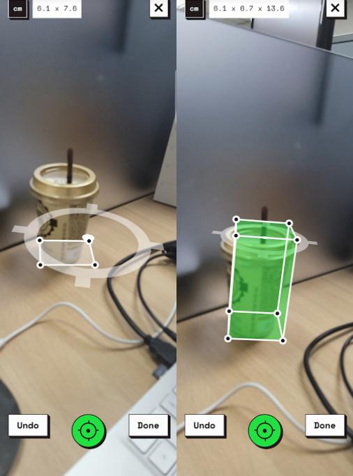 사물 부피를 측정할수 있는 구글 웹 앱 MEASURE UP 캡처 2