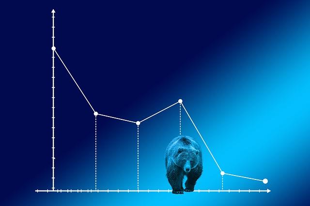 주식 시장의 하락세 이미지
