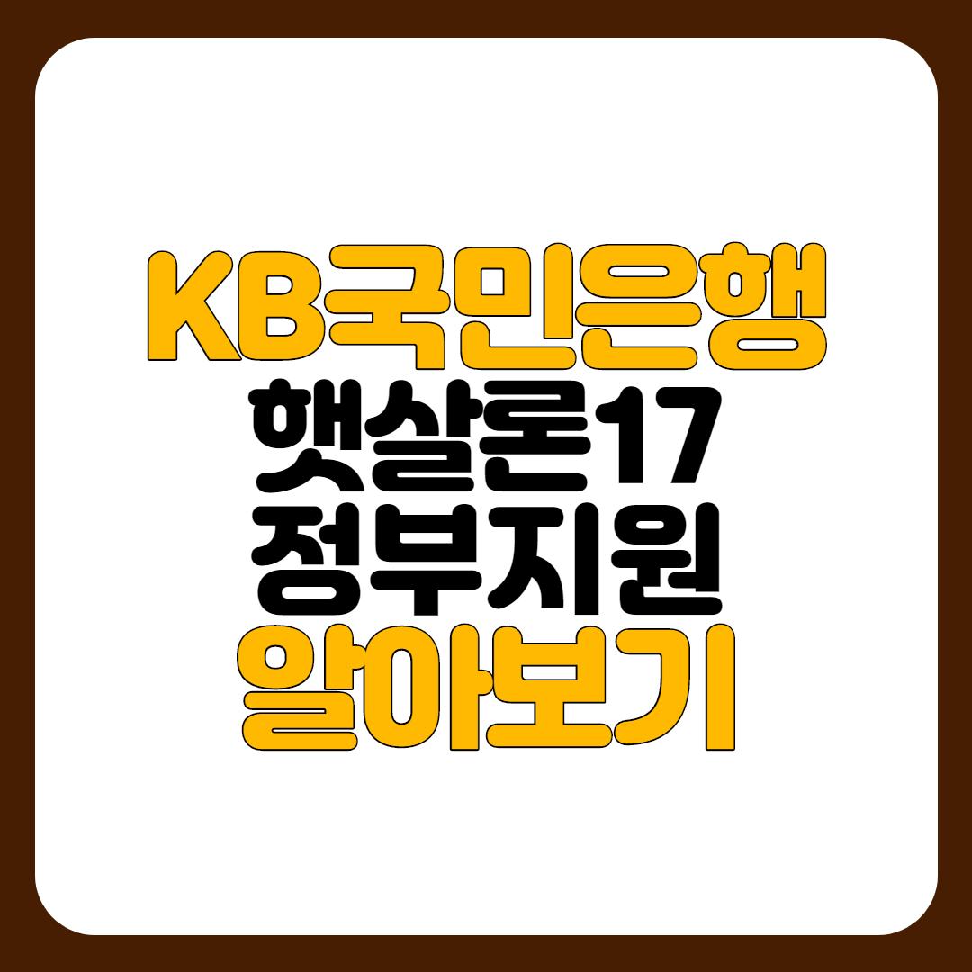 KB국민은행 햇살론17