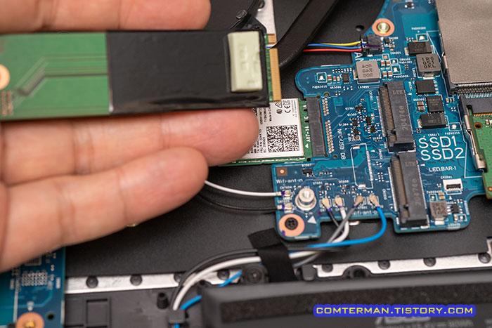 ROG Strix G17 G713QM SSD 슬롯