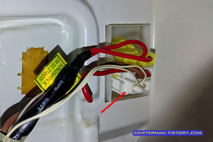 지펠 냉장고 제상센서 커넥터 위치