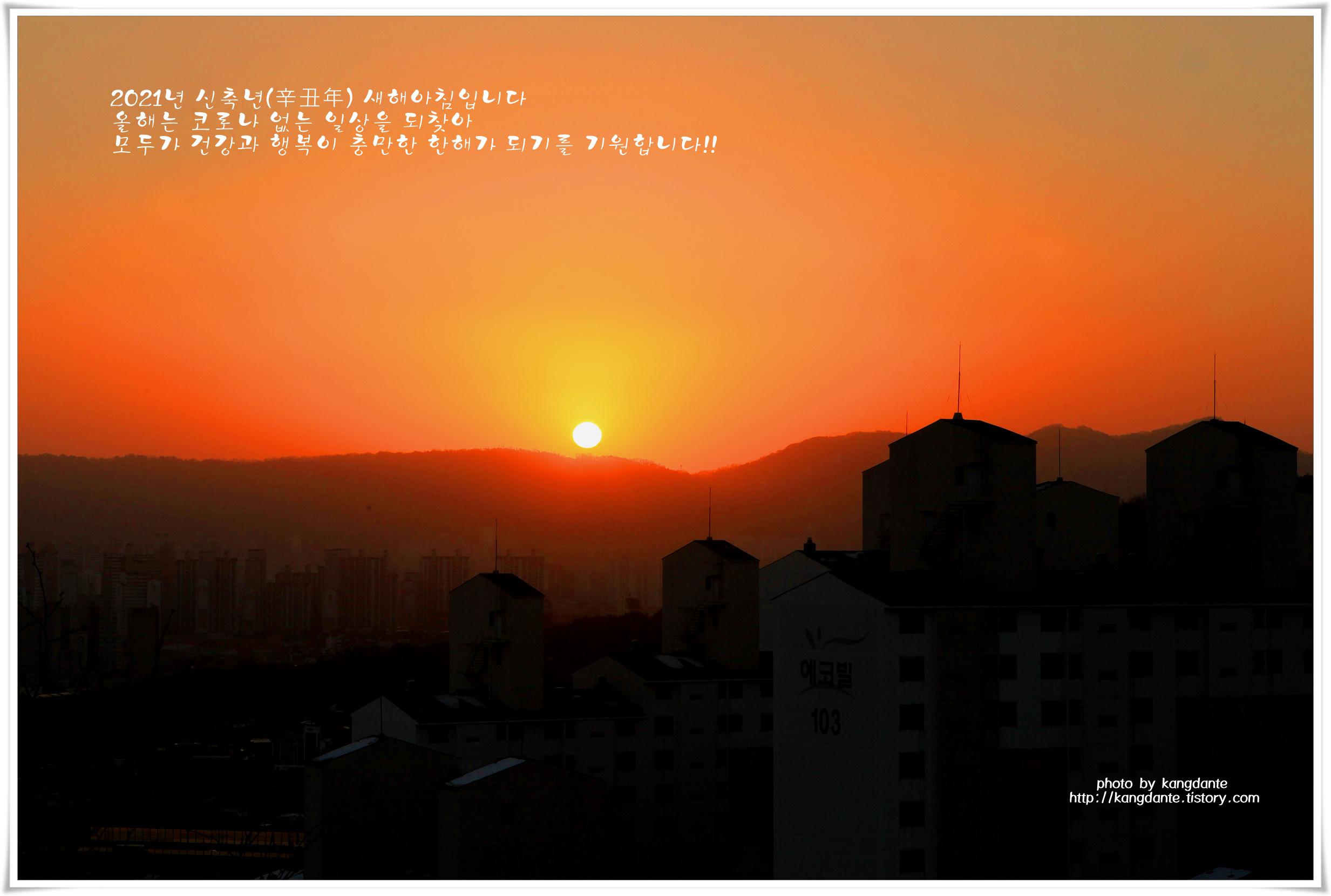 2021년 신축년(辛丑年) 새해아침