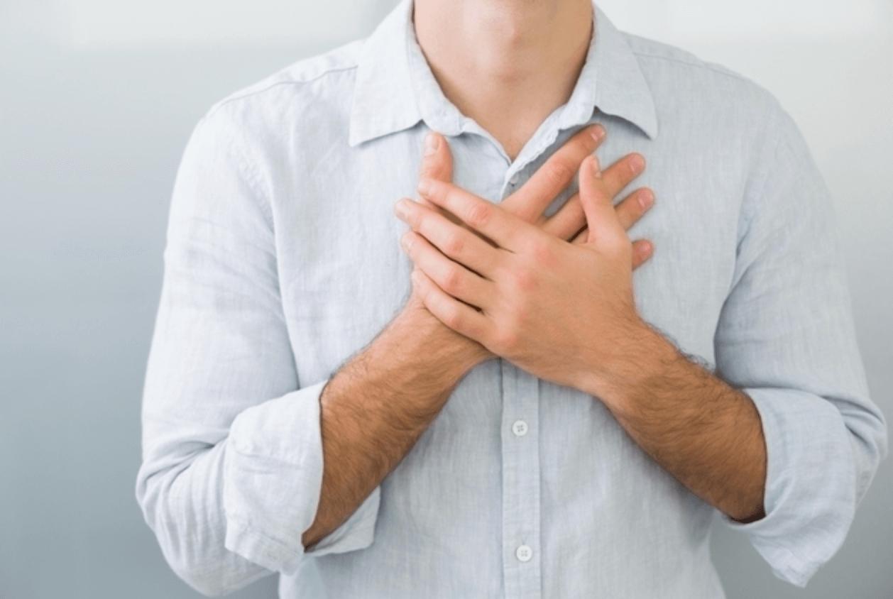 가슴-중앙-통증