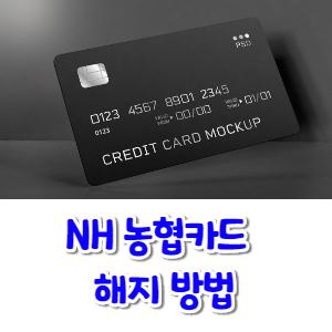 NH농협카드 해지 방법 신용카드 이미지 썸네일