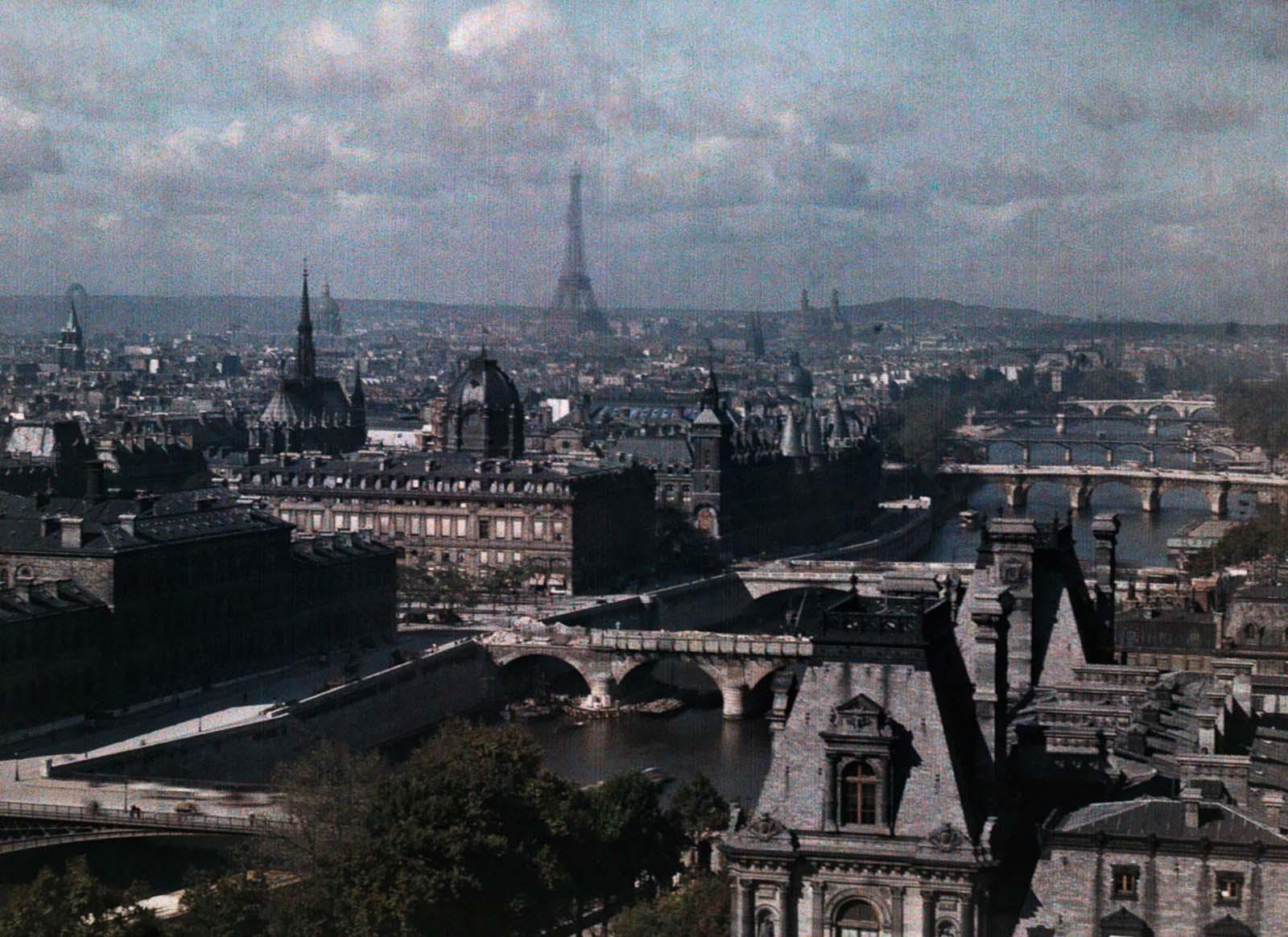 오토크롬으로 촬영한 1923년 파리의 컬러 사진