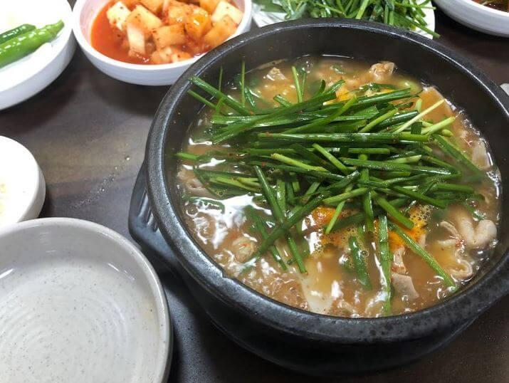 순대국밥-부추