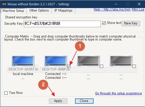 윈도우10 mouse without borders 설정 방법 사진 6