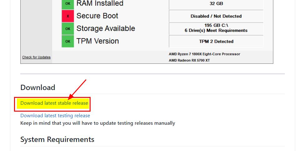 윈도우11 설치 사양 확인 프로그램 WhyNotWin11