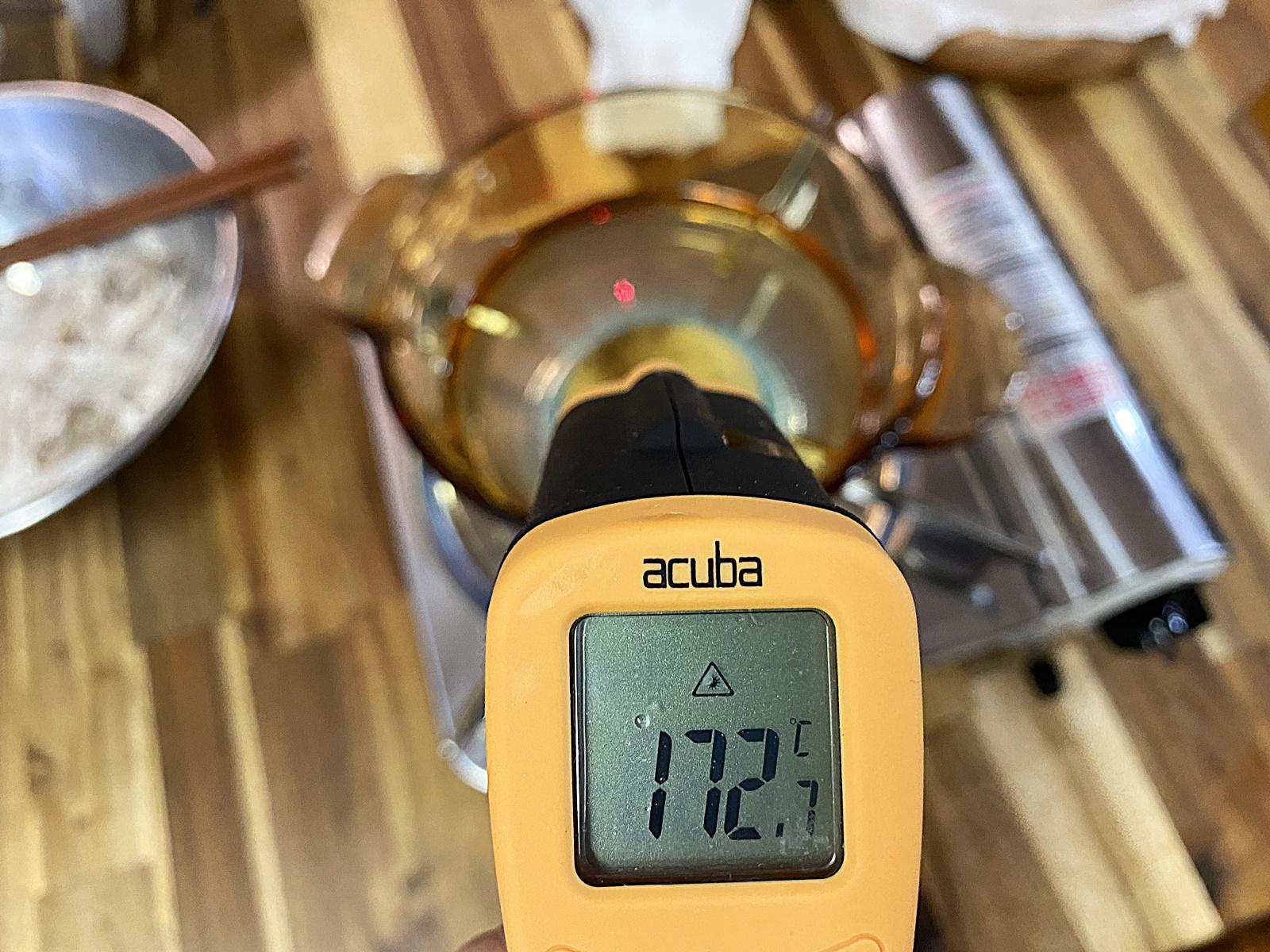 튀김 기름 적외선 온도계 172도