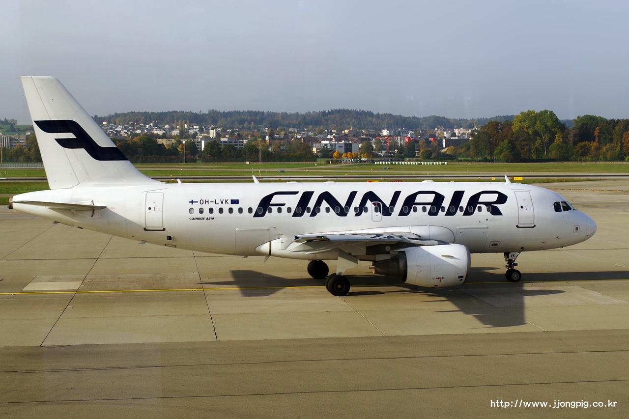 핀에어 Finnair AY FIN OH-LVK A319-100 Airbus A319-100 A319 취리히 - 클로텐 Zurich - Kloten 취리히 Zurich ZRH LSZH