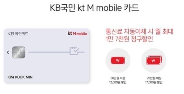 알뜰폰 제휴 국민카드