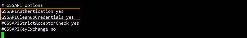 kerberos 인증을 위한 sshd_config 설정 수정