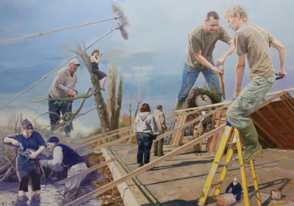 1.'교환X로서의세계 두마리새',oiloncanvas,270×190cm,2012