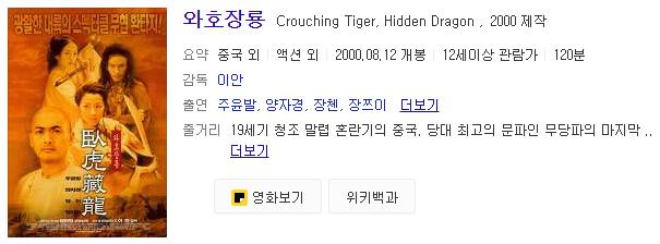와호장룡영화소개
