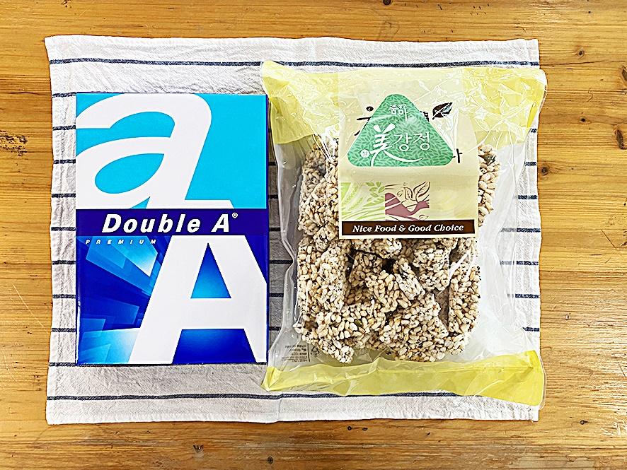 쌀강정과 A4