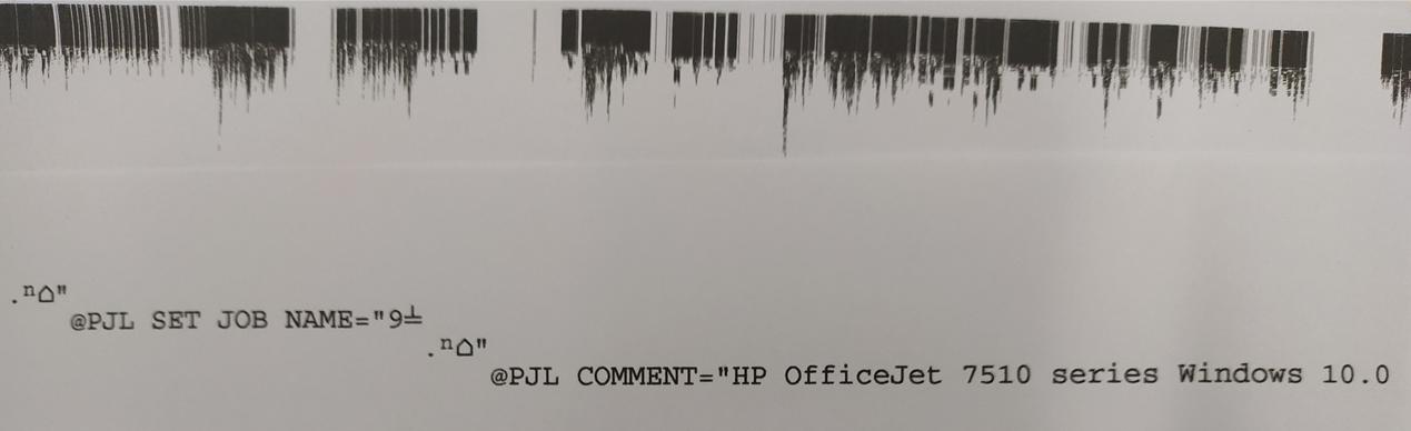 [문제해결] @PJL SET JOB NAME= HP 프린터 인쇄 이상하게 나올 때