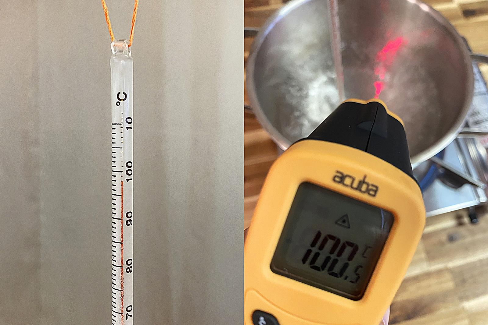 스테인리스 냄비 물 끓이며 온도계 비교 실험 4