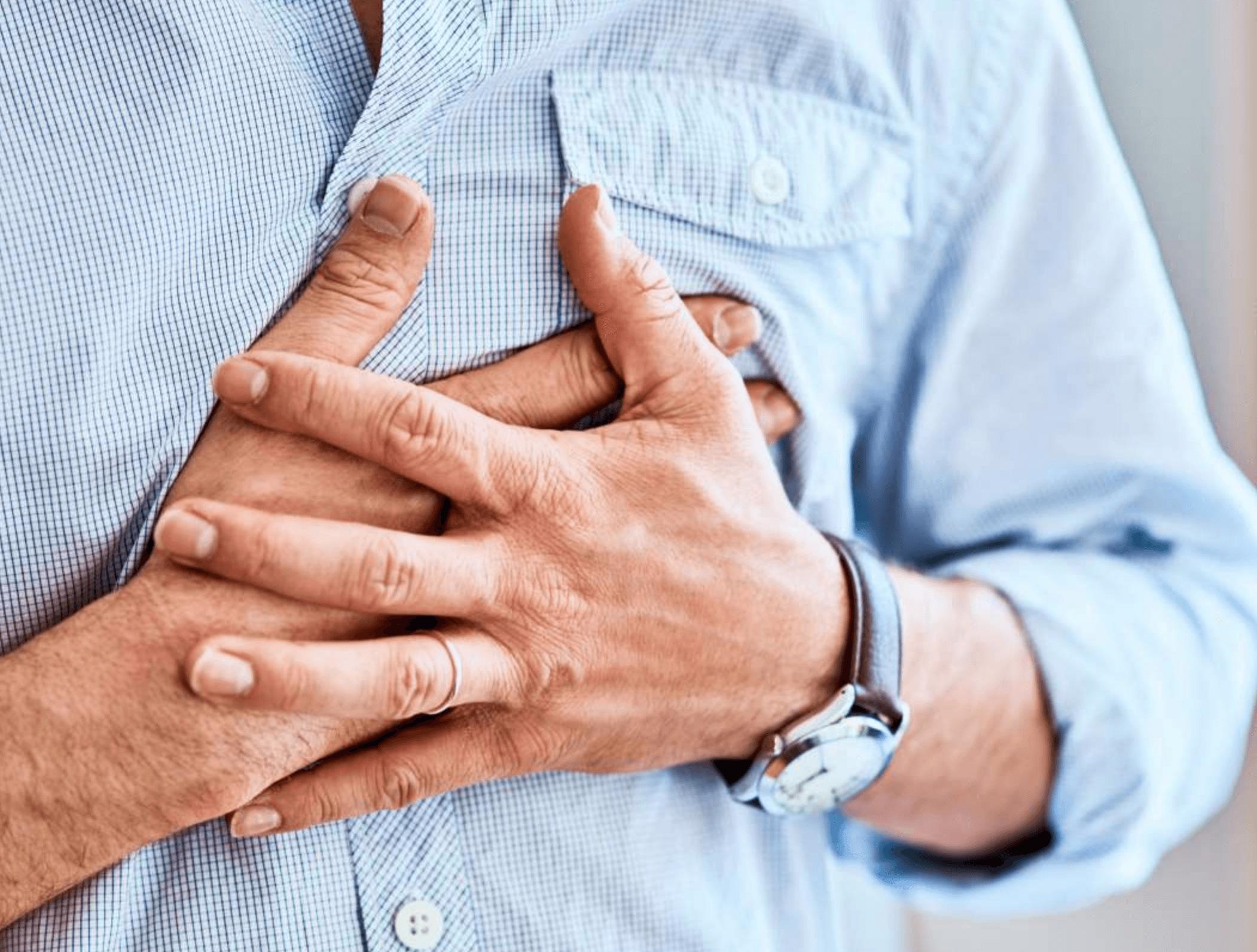 가슴중앙-통증-원인