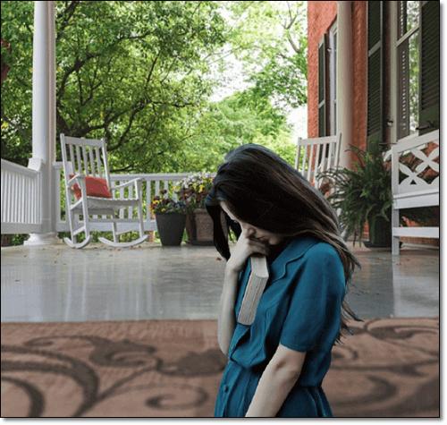 월경전증후군 여성