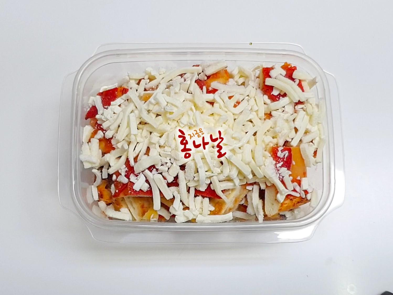 [떠먹는 피자] 모짜렐라치즈 올리기