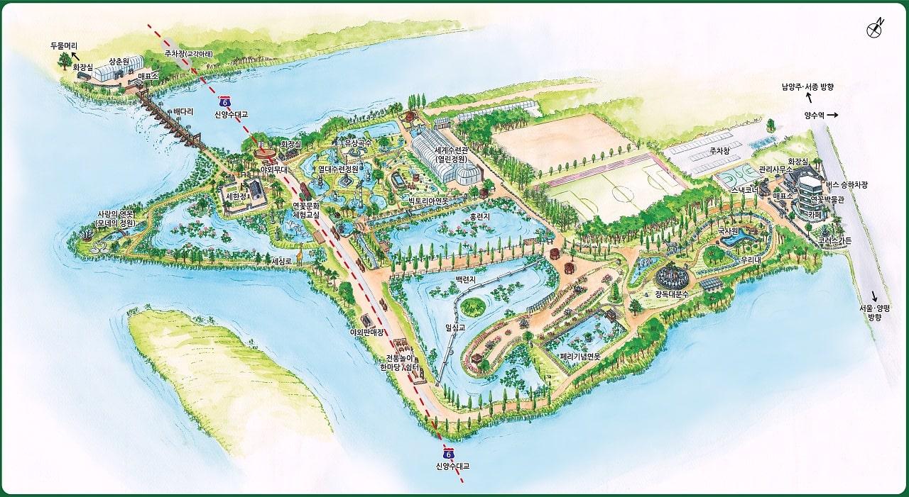 세미원 지도
