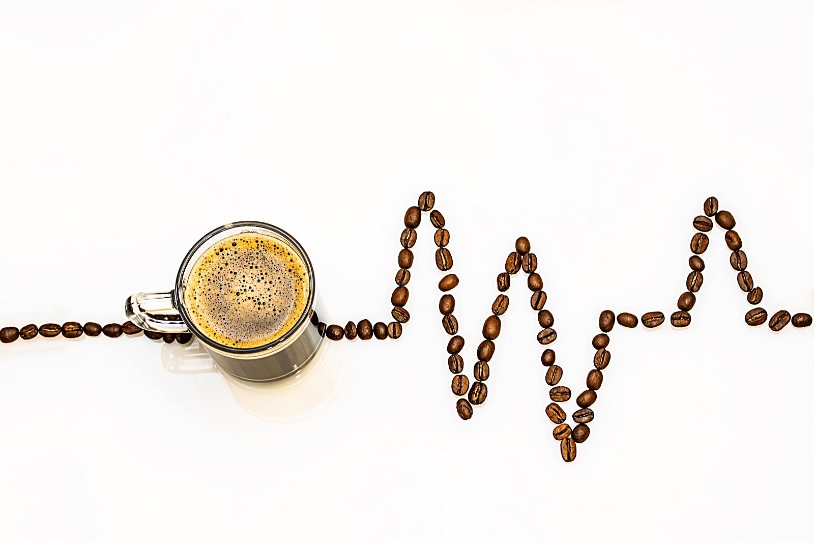커피 원두 심장 박동