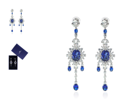 Swarovski Palace Rhodium And Crystal Earrings