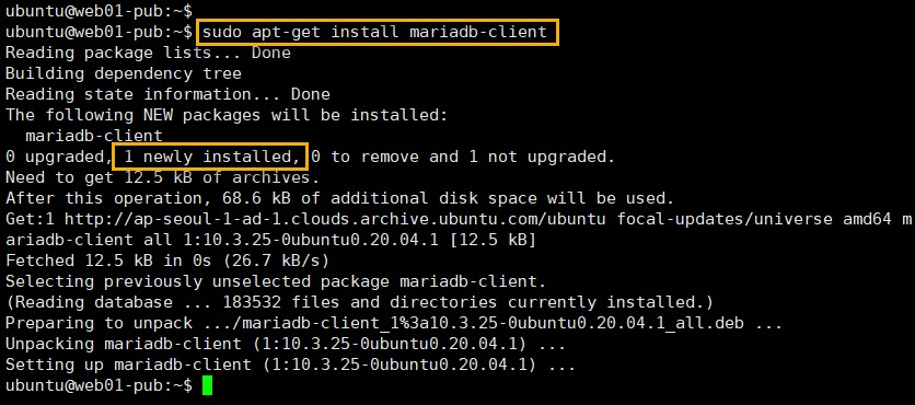 mariadb client 설치