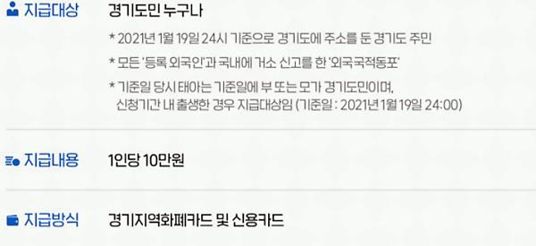경기도 2차 재난지원금 신청 관한 이미지십팔