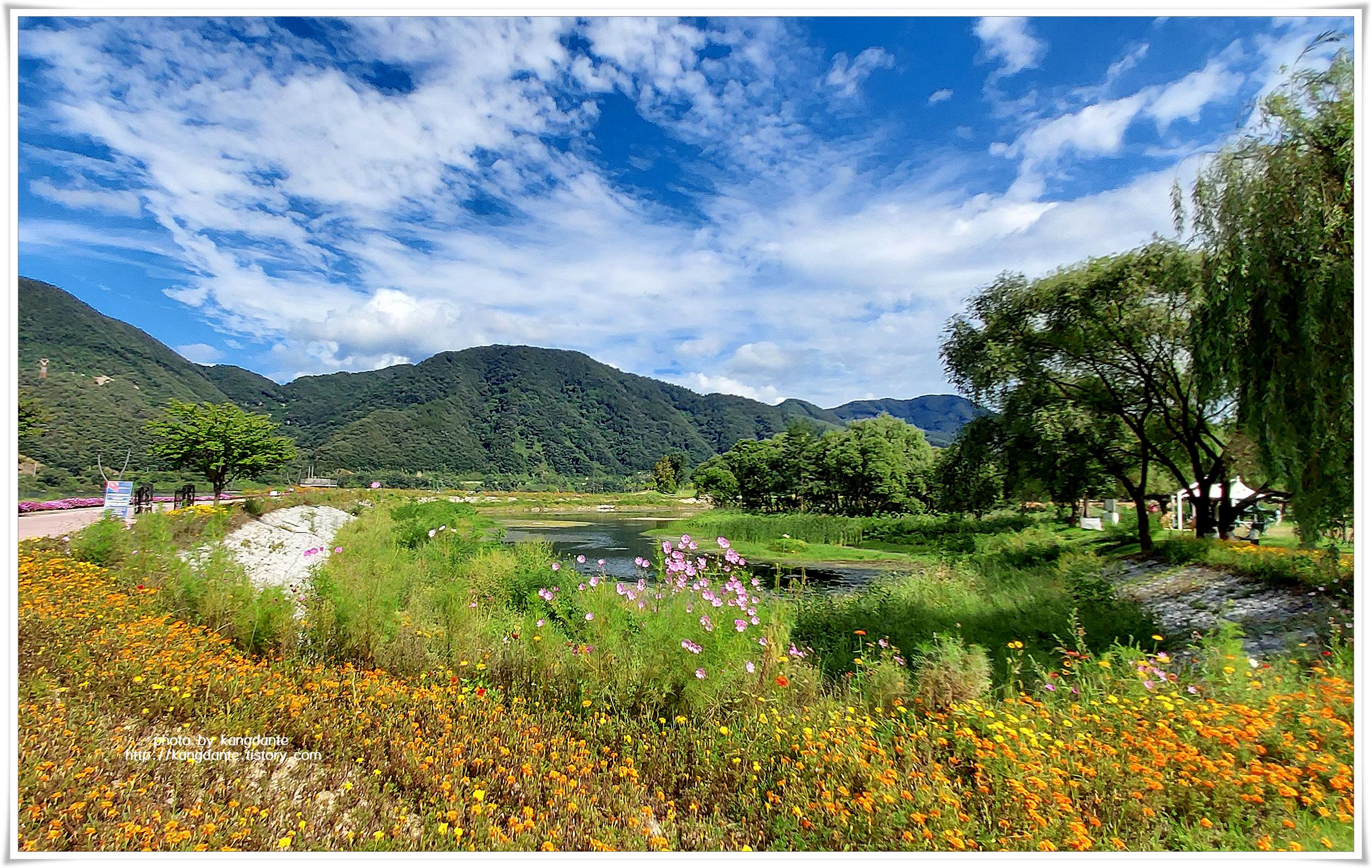 자연과 꽃밭이 어우러진 자연수목원, 자라섬