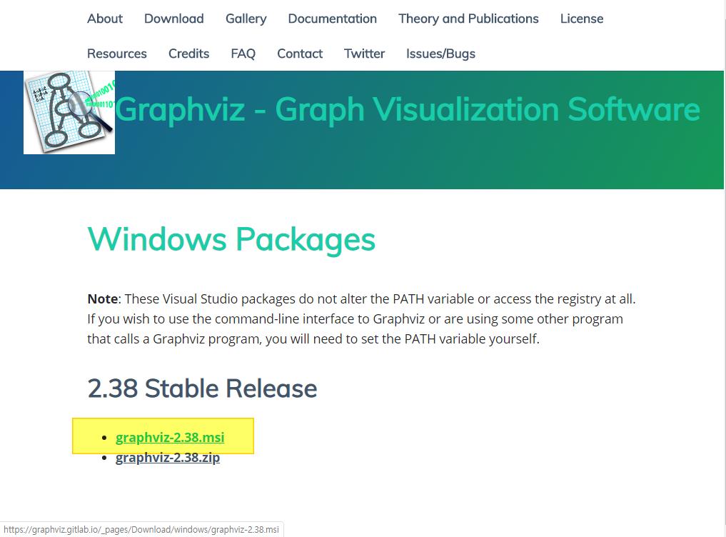 graphviz 홈페이지