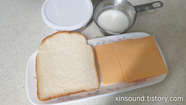 체다치즈 토스트