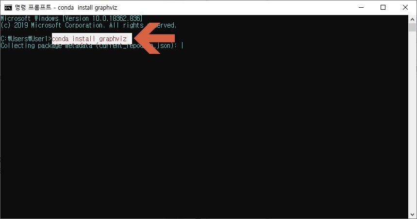 아나콘다 graphviz 설치