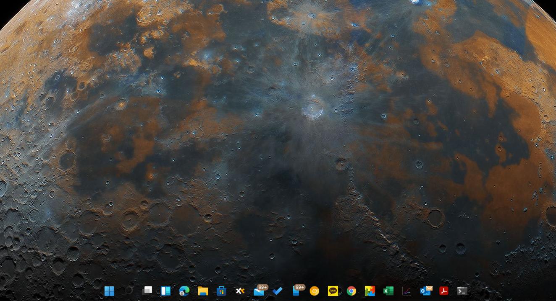 윈도우11 작업표시줄 투명하게 만들기