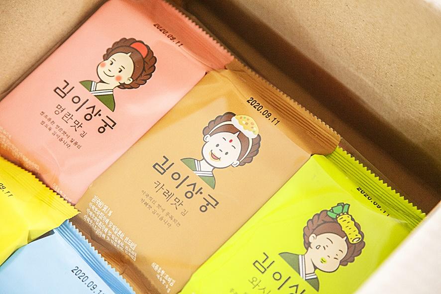 김이상궁 명란,카레,와사비 맛