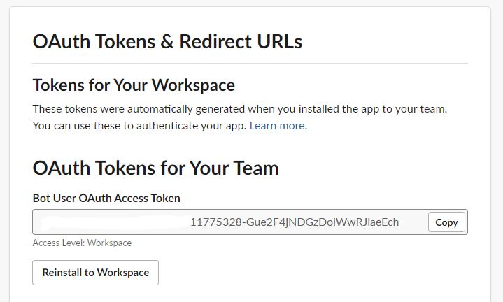 OAuth Tokens for your Team