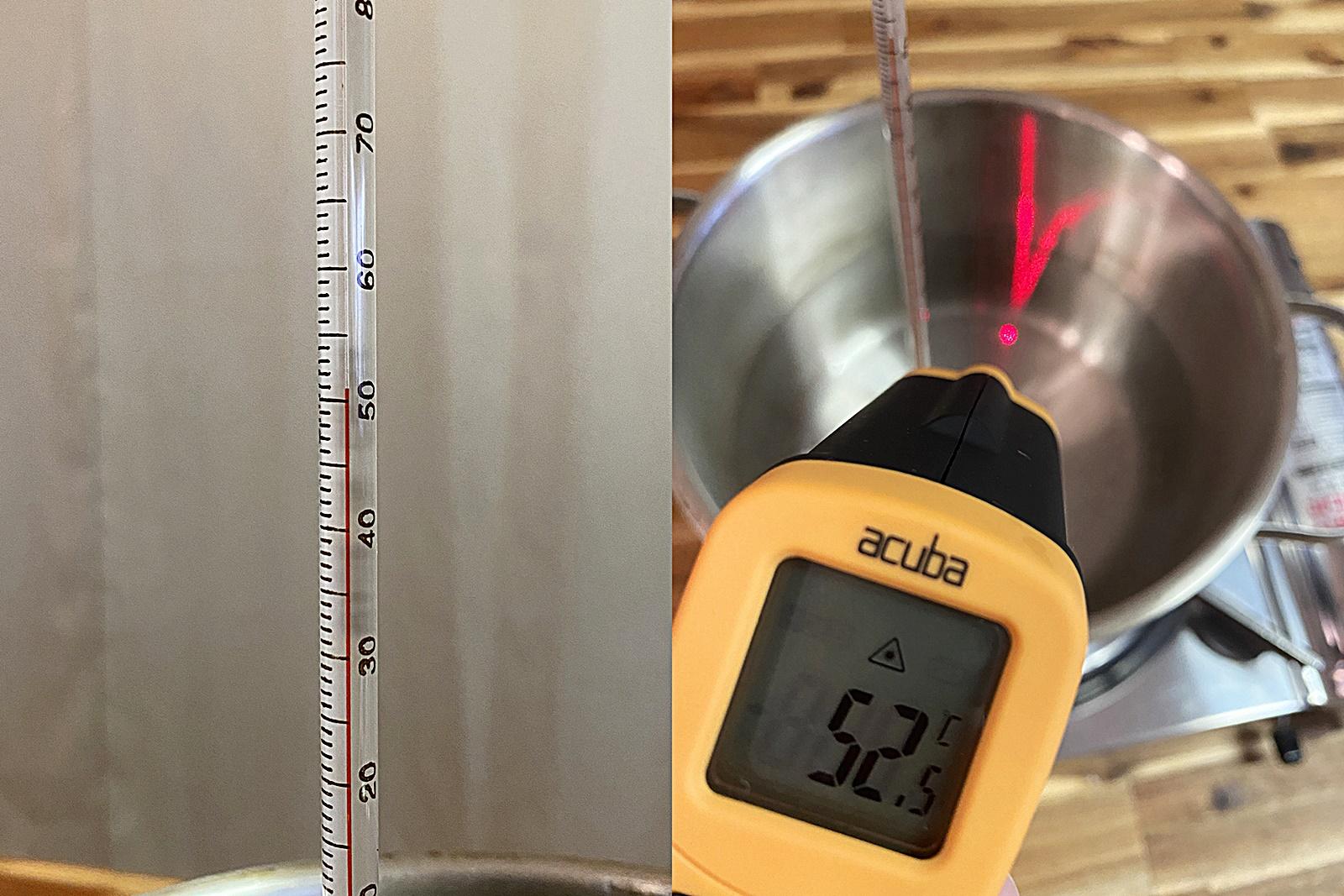 스테인리스 냄비 물 끓이며 온도계 비교 실험 2