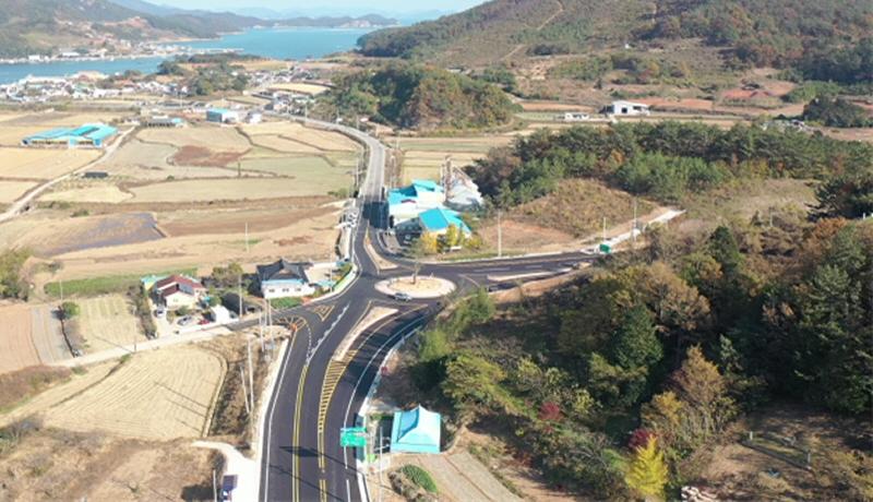 ▲ 고흥-봉래 도로건설공사