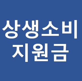 상생 소비 지원금 신용카드 캐시백 대상자 신청