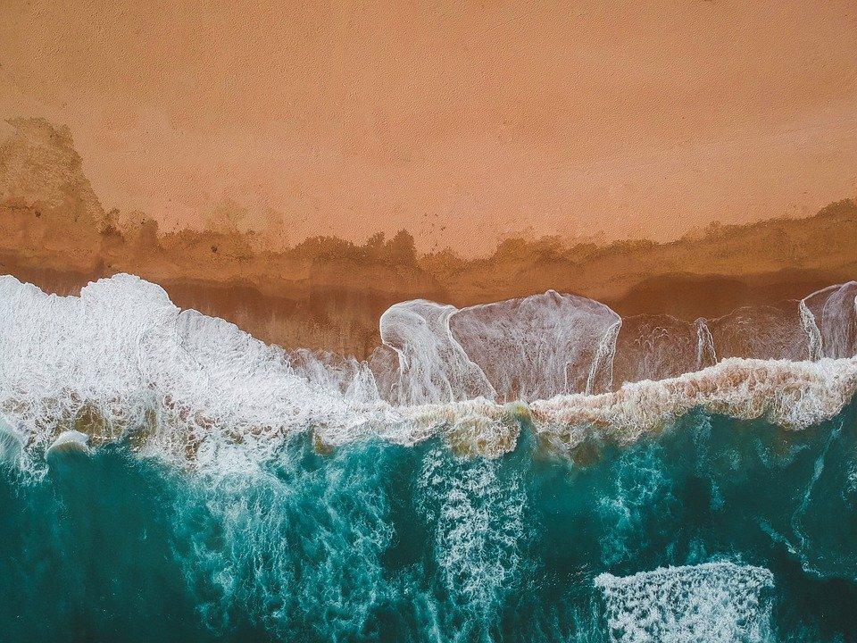 항공샷-바다-하와이