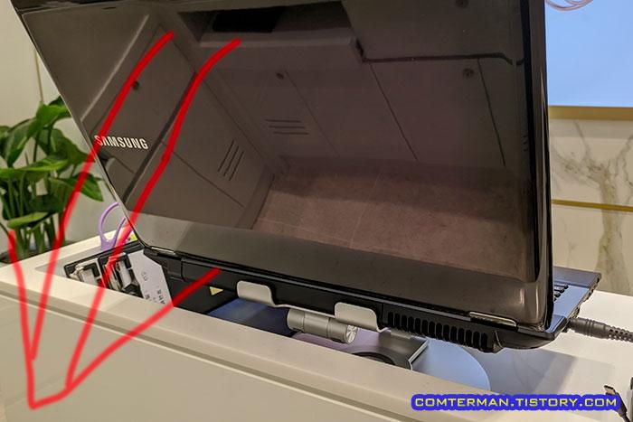 회전식 관절 노트북 거치대 단점